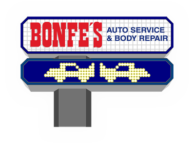 bonfes auto repair shop and body repair logo